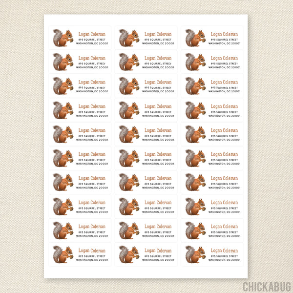 Squirrel Address Labels