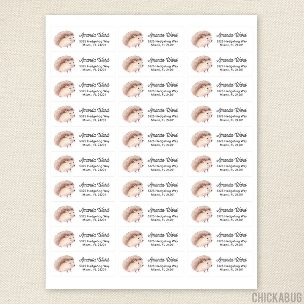 Hedgehog Address Labels
