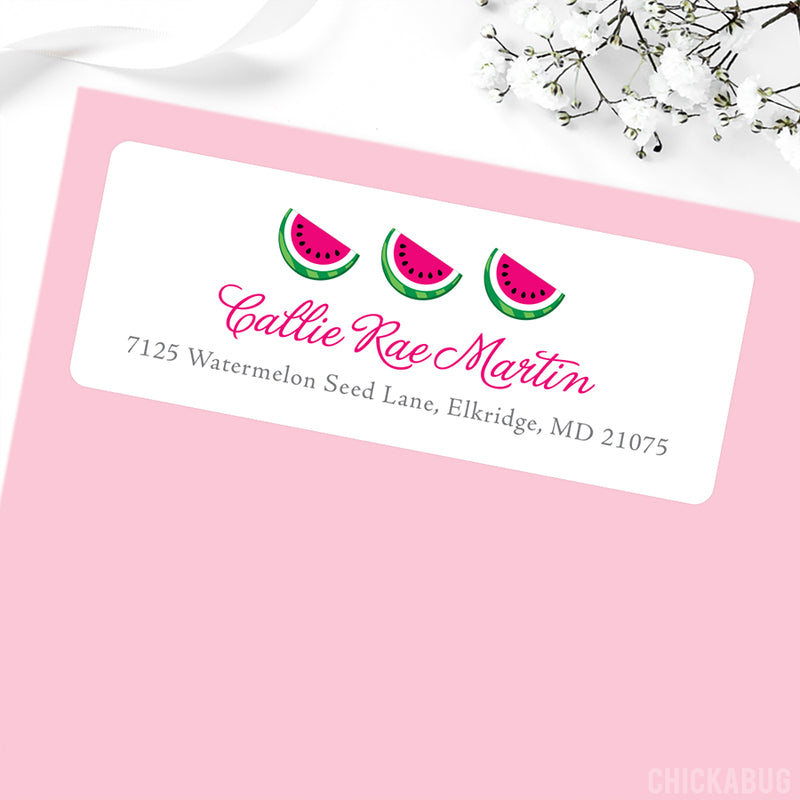 Pink Watermelon Address Labels