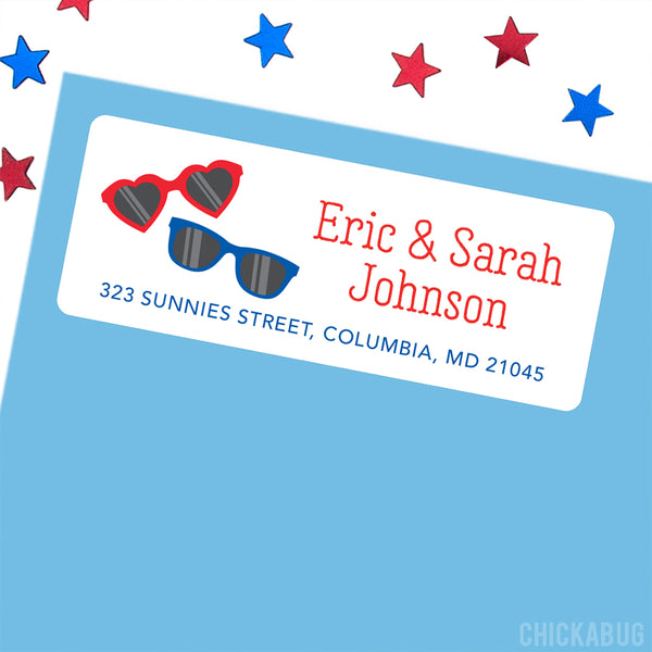 Sunglasses Address Labels