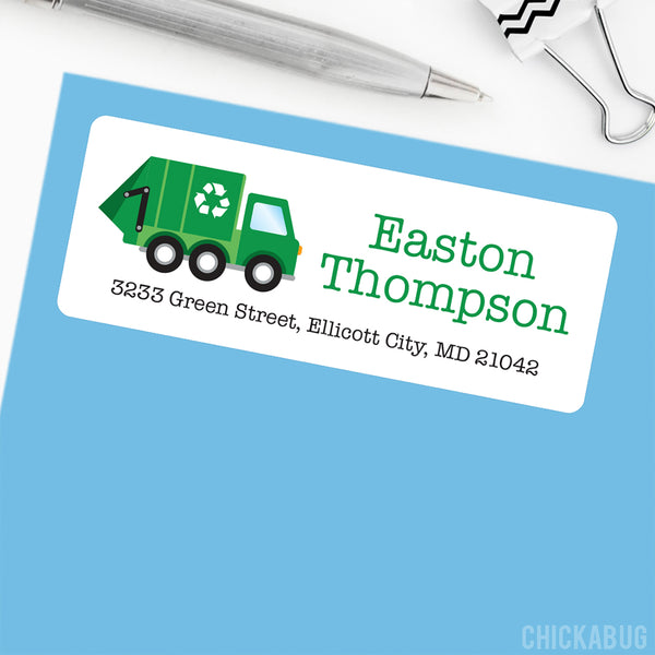 Garbage Truck Address Labels