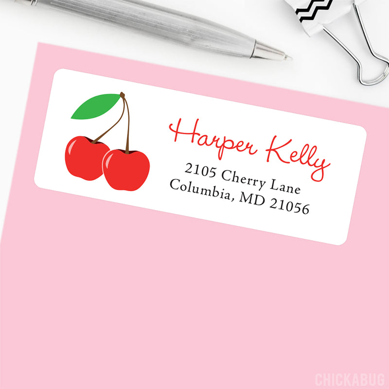 Cherries Address Labels