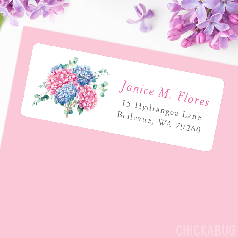 Hydrangea Bouquet Address Labels