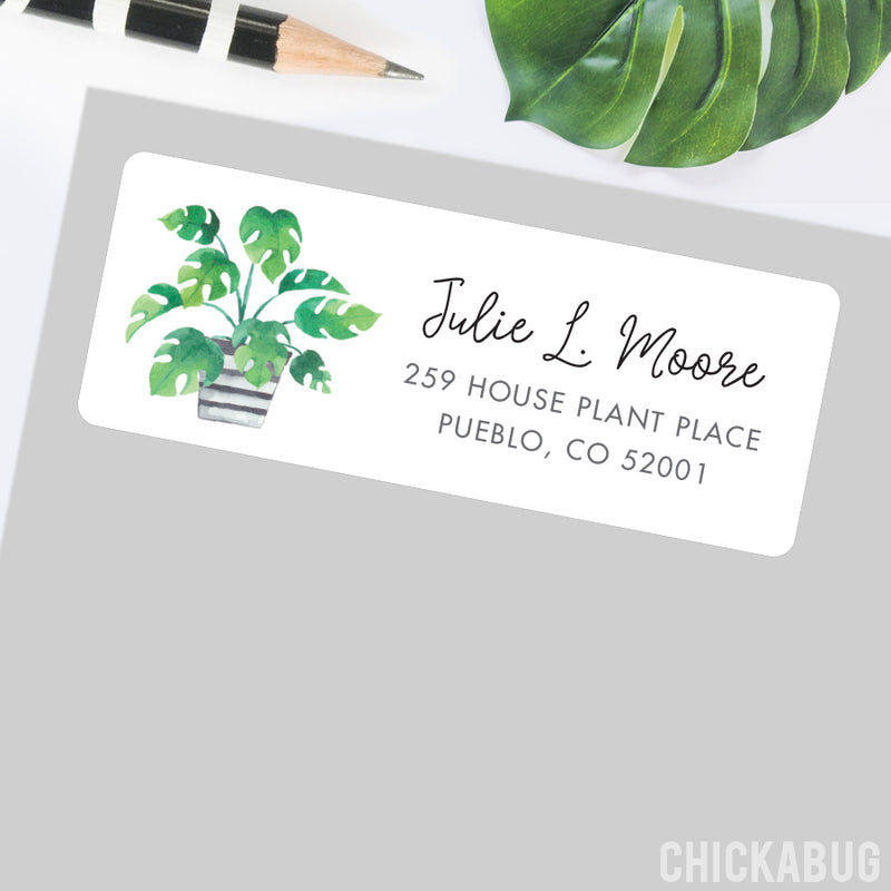 Potted Plant Address Labels