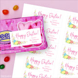 Egg and Tulips Easter Gift Labels