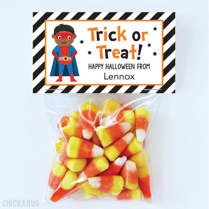 SuperKid Halloween Paper Tags and Bags