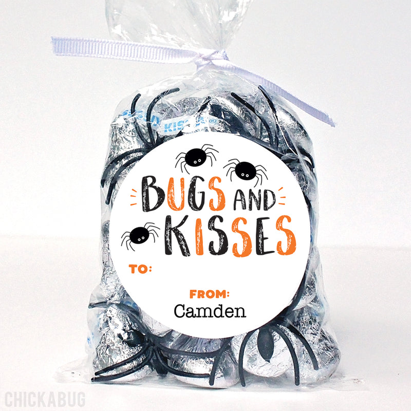 """Bugs and Kisses"" Halloween Labels"