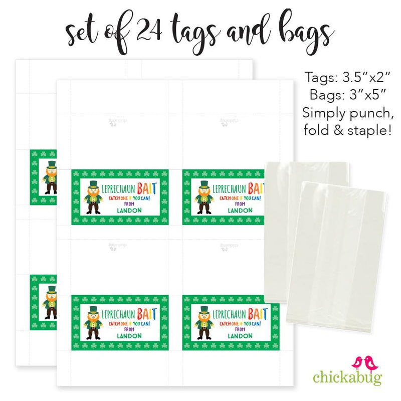 Leprechaun Bait St. Patrick's Day Paper Tags and Bags