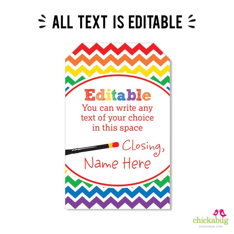 Art Party Editable Favor Tags (INSTANT DOWNLOAD)