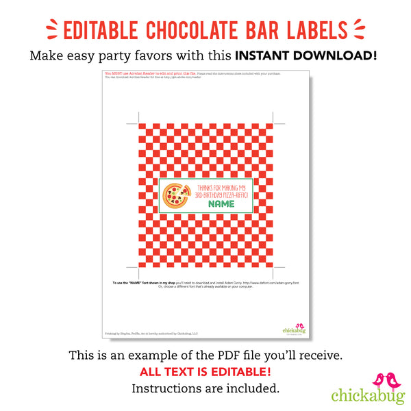 Art Party Editable Hershey Bar Labels (INSTANT DOWNLOAD)