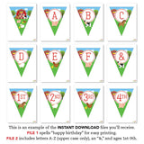 Farm Party Pennant Banner (INSTANT DOWNLOAD)