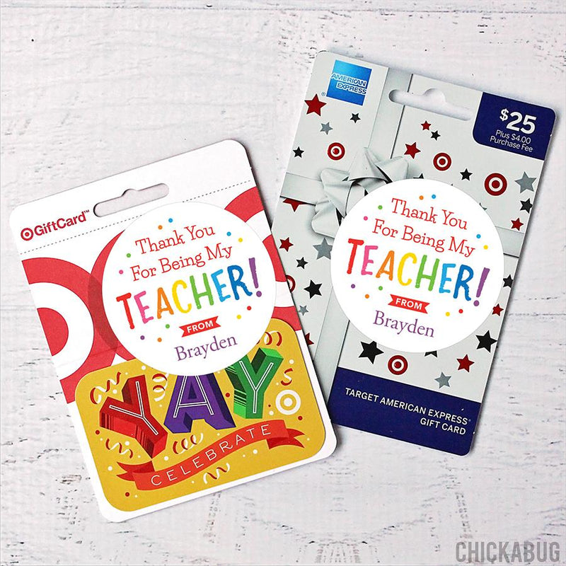 Thank You Teacher Appreciation Stickers