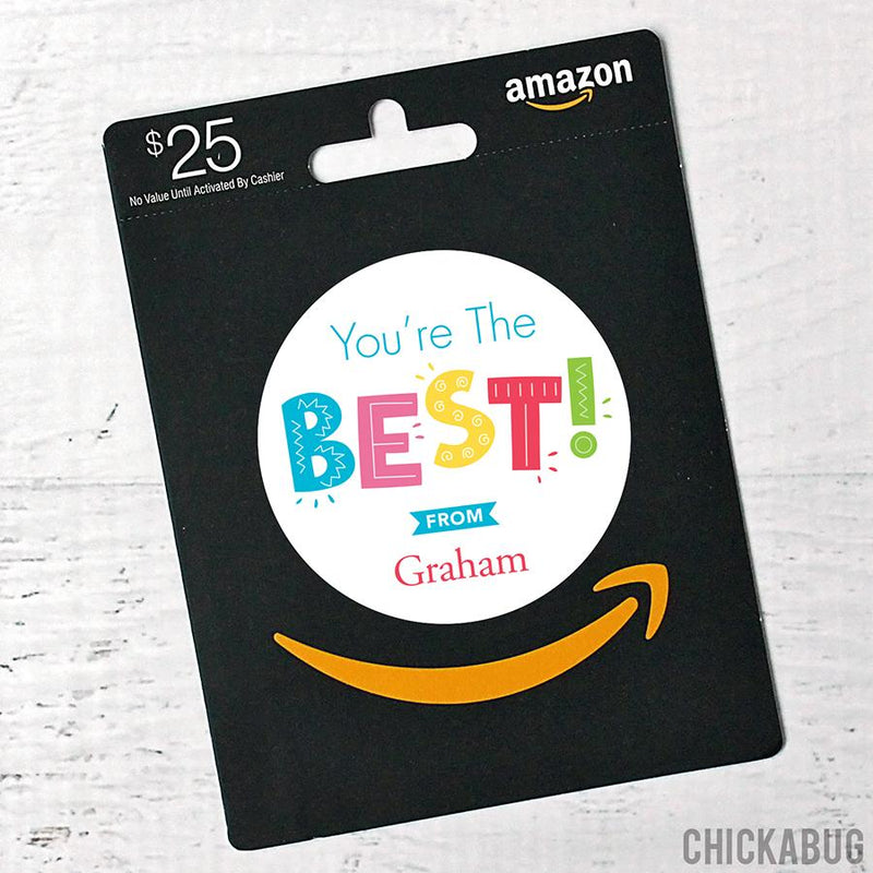 """You're The Best"" Appreciation Stickers"