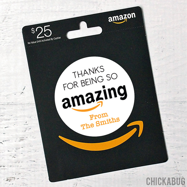 """Thanks for Being So Amazing"" Appreciation Gift Stickers"