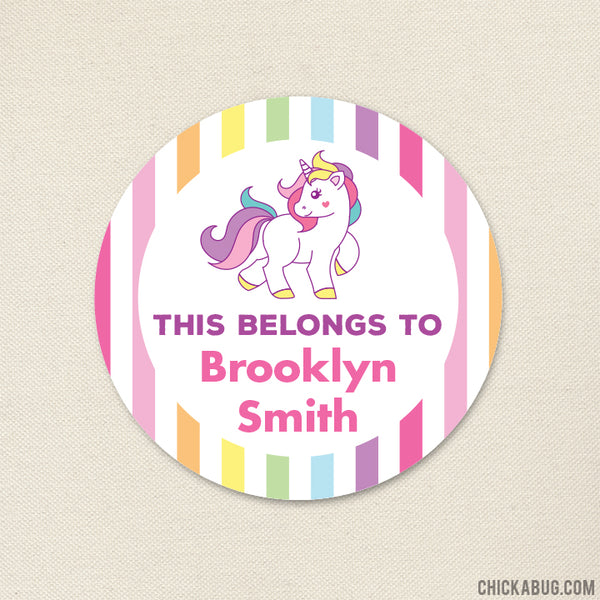 "Unicorn ""This Belongs To"" Labels"