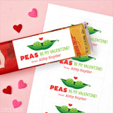 """Peas Be My Valentine"" Valentine's Day Gift Labels"