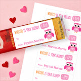 Owl Valentine's Day Gift Labels