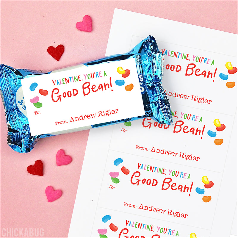 Jelly Beans Valentine's Day Gift Labels