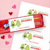 """Let's Avo-Cuddle!"" Avocado Valentine's Day Gift Labels"