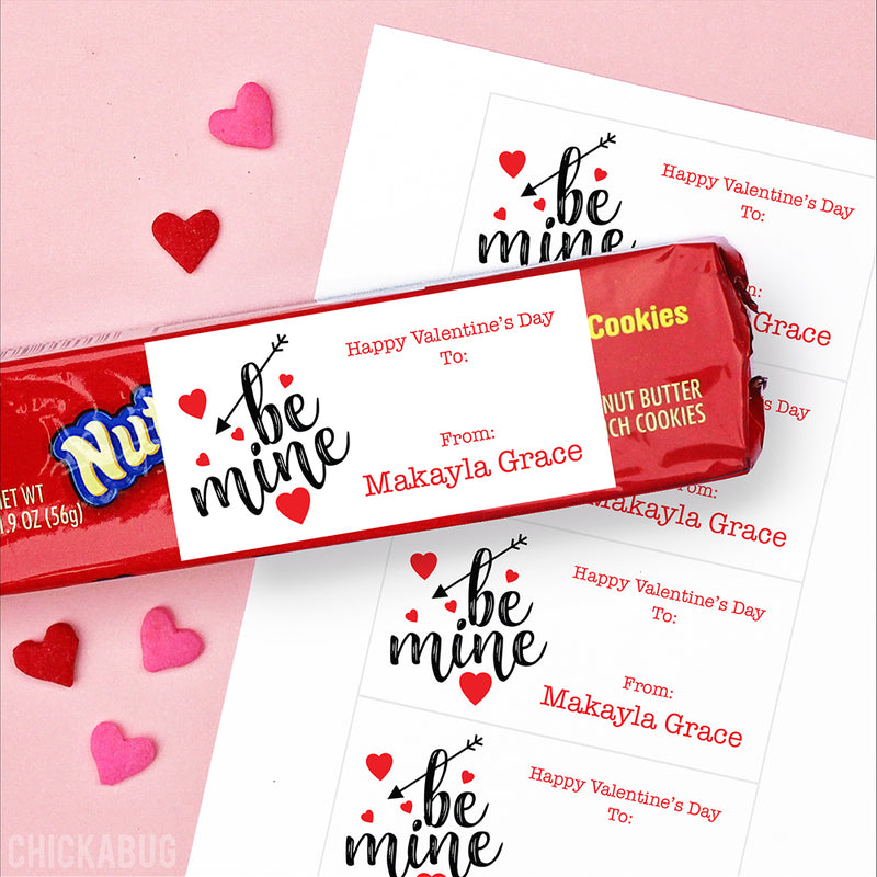 """Be Mine"" Valentine's Day Gift Labels"