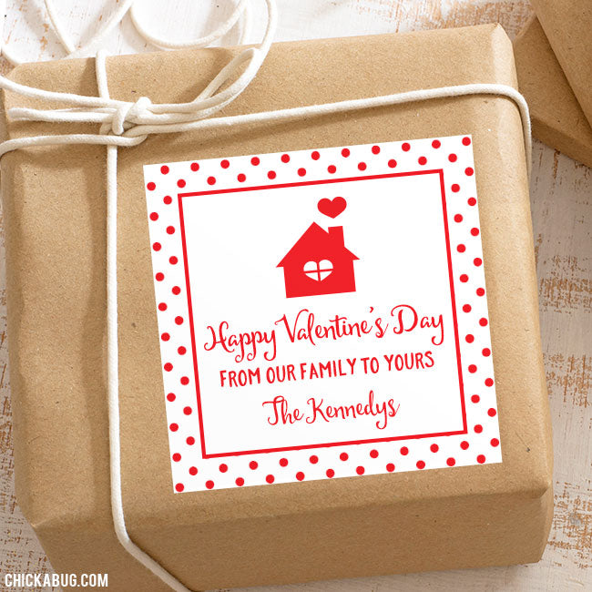 """From Our Family To Yours"" Valentine's Day Gift Labels"