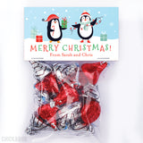 Penguin Family of 2 - Christmas Paper Tags and Bags