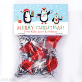 Penguin Family of 3 - Christmas Paper Tags and Bags