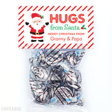 Hugs from Santa Christmas Paper Tags and Bags