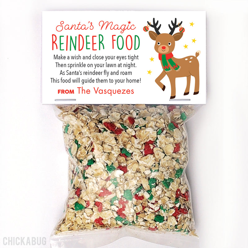 Reindeer Food Christmas Paper Tags and Bags