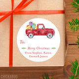 Vintage Truck Christmas Gift Labels