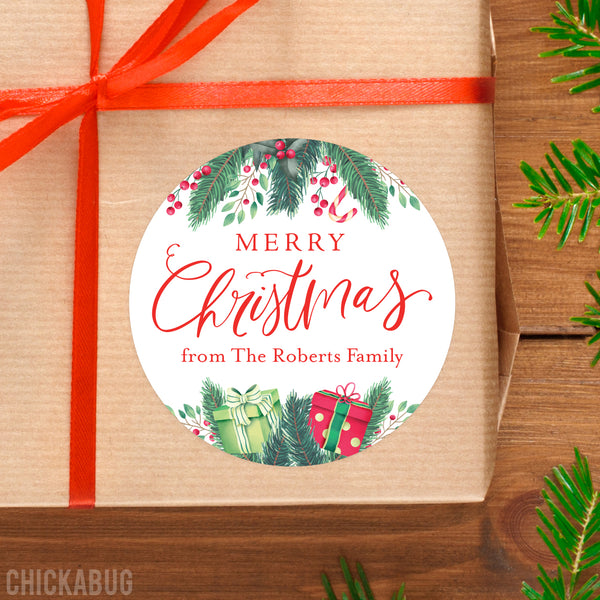 Christmas Garland Gift Labels