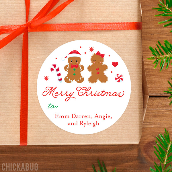 Gingerbread Christmas Gift Labels
