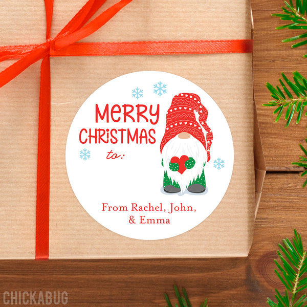 Christmas Gnome Gift Labels