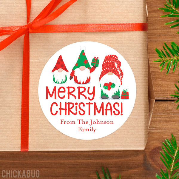 Gnomes Christmas Gift Labels