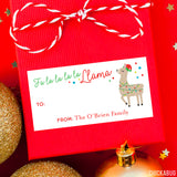 Llama Rectangular Christmas Gift Labels