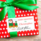 To Child From Santa Christmas Gift Labels - Train