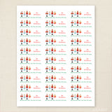 Nutcracker Christmas Address Labels
