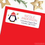 Christmas Address Labels - Penguin