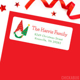 Christmas Gnome Address Labels
