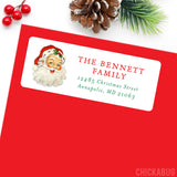 Vintage Santa Christmas Address Labels