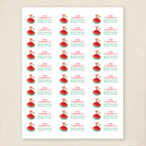 Vintage Christmas Caroler Address Labels