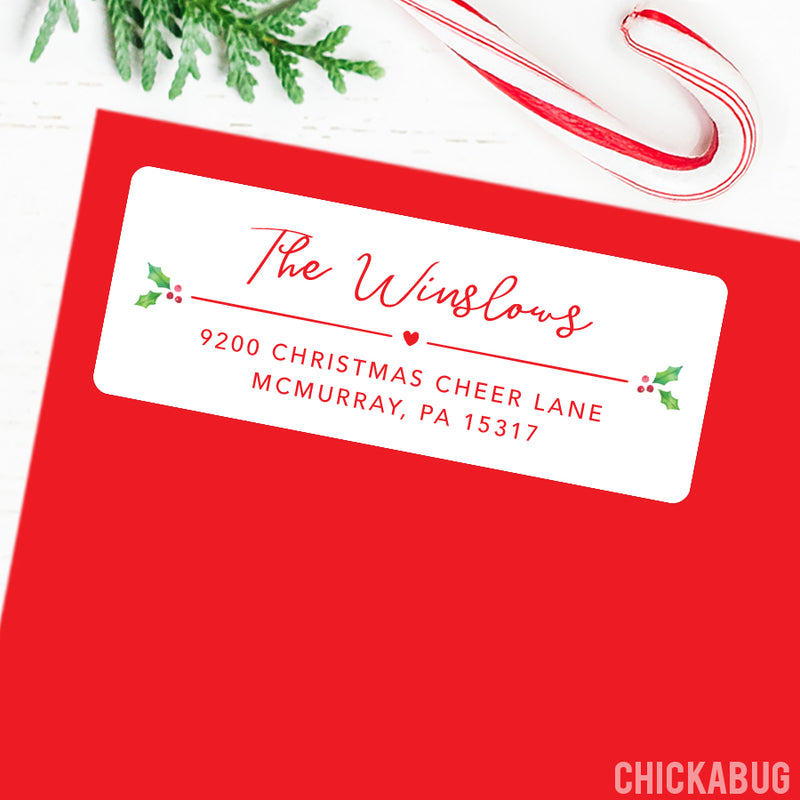 Christmas Address Labels - Script Name
