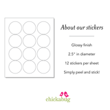 """Wishing You a Sweet Christmas"" Stickers"