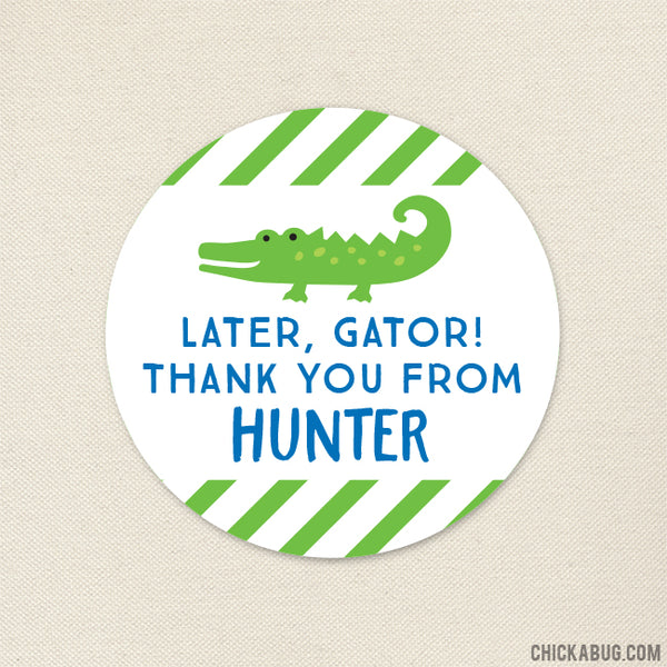Alligator Party Favor Stickers