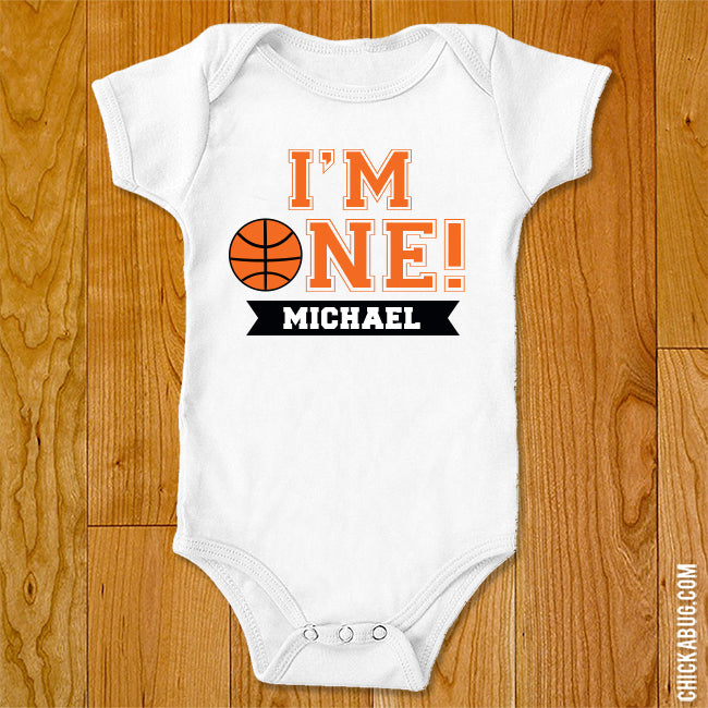 "Basketball ""I'm One"" Iron-On"