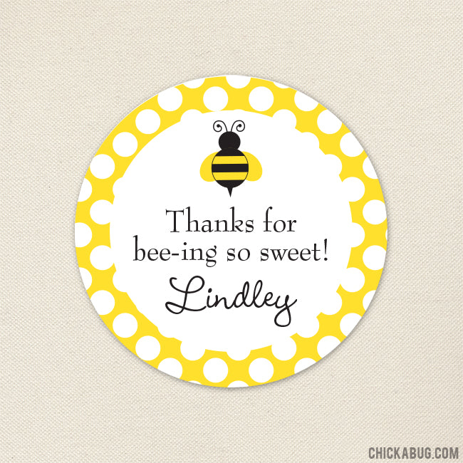 Bumblebee Party Favor Stickers
