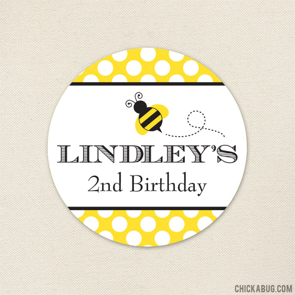 Bumblebee Birthday Stickers