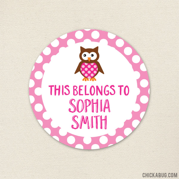 "Owl ""This Belongs To"" Labels"