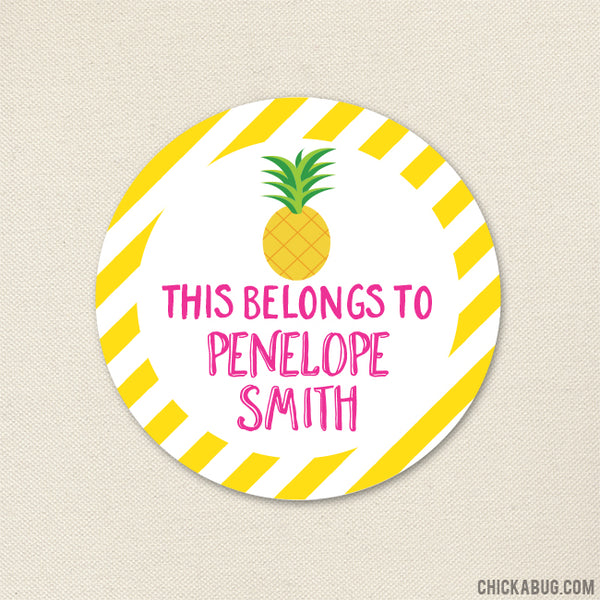 "Pineapple ""This Belongs To"" Labels"
