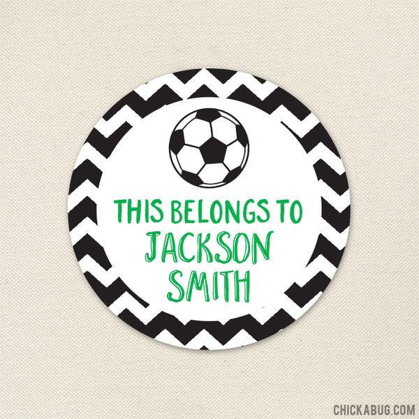"Soccer ""This Belongs To"" Labels"